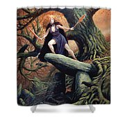 Macha The Irish Goddess Of War Shower Curtain