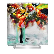 Machine And Me Shower Curtain
