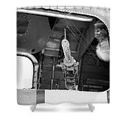 Machine Gun Wwii Aircraft Shower Curtain