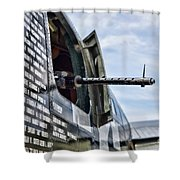 Machine Gun Wwii Aircraft Color Shower Curtain