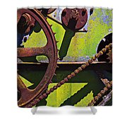 Machinery Gears  Shower Curtain