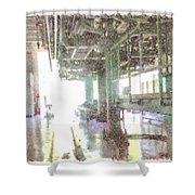 Machinery In A Factory Shower Curtain