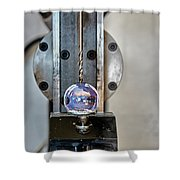 Machinists Drill With Precision Shower Curtain