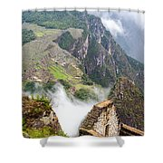Machu Picchu And Fog Shower Curtain