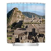 Machu Picchu City Archecture Shower Curtain