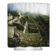 Machu Picchu In The Fog Shower Curtain
