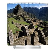 Machu Picchu Residential Sector Shower Curtain