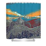 Machu Picchu Travel Poster Shower Curtain