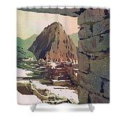 Machu Picchu Vista- Peru Shower Curtain