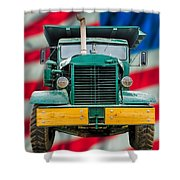 Mack Dump Truck Shower Curtain