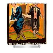 Mack Sennett Comedy - An International Sneak 1917 Shower Curtain