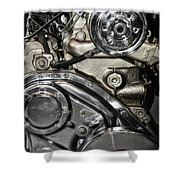 Mack Truck Display Engine Shower Curtain