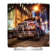 Mack Truck Nyc Shower Curtain