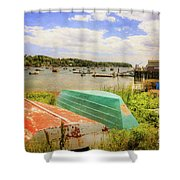 Mackerel Cove Dory And Dinghy   Shower Curtain