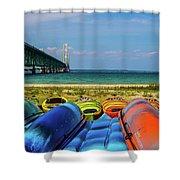 Mackinac Bridge 2240 Shower Curtain