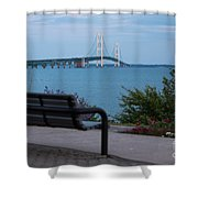 Mackinac Bridge 4 Shower Curtain