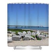 Mackinaw Bridge 2 Shower Curtain