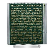 Mackinaw Conference Signage Mackinac Island Michigan Vertical Shower Curtain