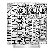 Maclay Word Art Shower Curtain