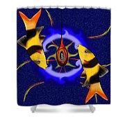 Macrachantis V1 - Colourful Fish Shower Curtain