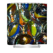 Macro Marbles Shower Curtain