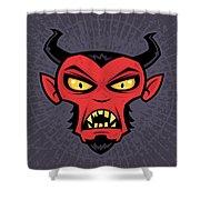 Mad Devil Shower Curtain