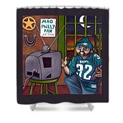 Mad Philly Fan In Texas Shower Curtain