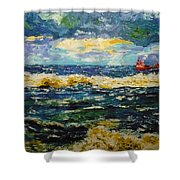 Mad Sea Shower Curtain