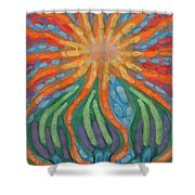 Mad Sun Shower Curtain