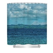 Madagascar, Nosy Be, Small Boat In Sea Shower Curtain