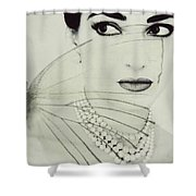 Madam Butterfly - Maria Callas  Shower Curtain