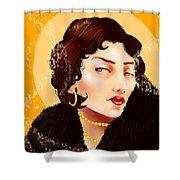 Madam Carbon Shower Curtain