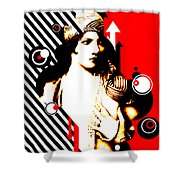 Madam Stripe Shower Curtain