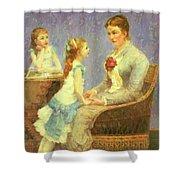 Madame Bouchet Et Ses Filles Shower Curtain