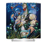 Madame Clawdia D'bouclier From Mask Of The Ancient Mariner Shower Curtain