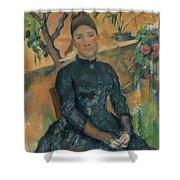 Madame Czanne Hortense Fiquet 18501922 In The Conservatory Shower Curtain