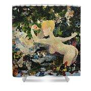 Madame De Pompadour In The Garden Of Eden Shower Curtain