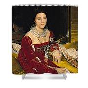 Madame De Senonnes Shower Curtain by Ingres