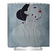 Madame Enchantee Shower Curtain
