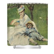 Madame Monet And Her Son Shower Curtain