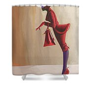 Madame Rouge Shower Curtain