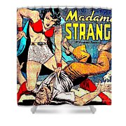 Madame Strange Comic Super Hero Shower Curtain
