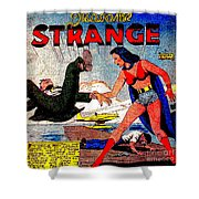 Madame Strange Female Comic Super Hero Shower Curtain