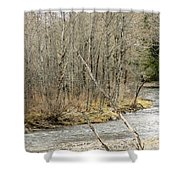 Madawaska Stream Bend Shower Curtain