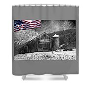Made In America Red White And Blue Shower Curtain