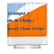 Made In China Clone - Made In China Script Shower Curtain