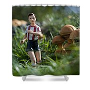 Made In China Soccer Player Shower Curtain