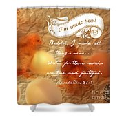 Made New - Verse Shower Curtain