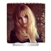 Madeline Smith, Vintage Actress Shower Curtain