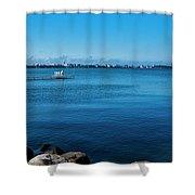 Madison Across Lake Mendota Shower Curtain